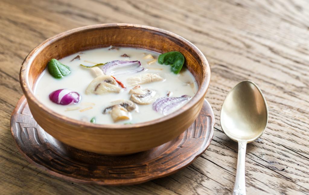 48636353 - tom kha gai chicken coconut soup